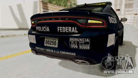 Dodge Charger RT 2016 Federal Police pour GTA San Andreas salon