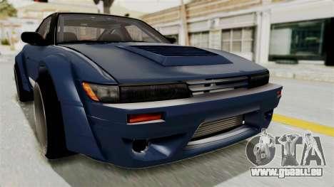 Nissan Silvia Sil80 pour GTA San Andreas vue de dessus