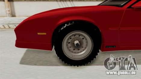 Chevrolet Camaro 1990 IROC-Z Rusty Rebel für GTA San Andreas Rückansicht