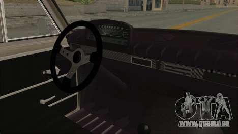 Seat 1430 FU pour GTA San Andreas vue intérieure