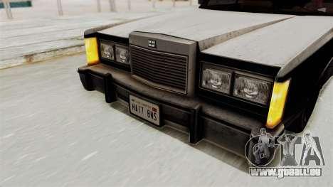 GTA 5 Dundreary Virgo IVF pour GTA San Andreas vue intérieure