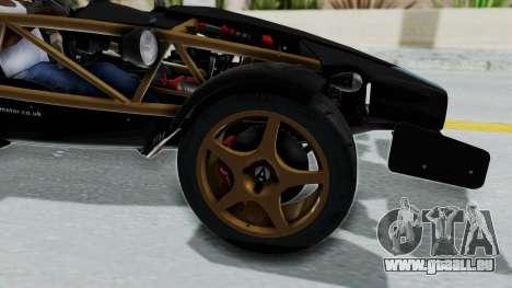 Ariel Atom 500 V8 für GTA San Andreas Rückansicht