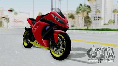 Kawasaki Ninja 250FI Anak Jalanan pour GTA San Andreas