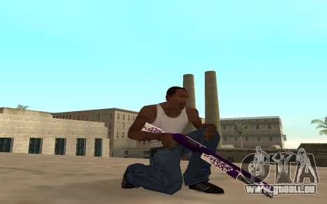 Purple fire weapon pack für GTA San Andreas her Screenshot