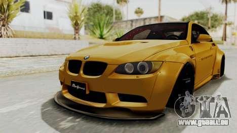 BMW M3 E92 Liberty Walk pour GTA San Andreas sur la vue arrière gauche