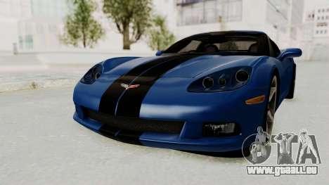 Chevrolet Corvette C6 pour GTA San Andreas sur la vue arrière gauche