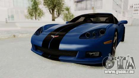 Chevrolet Corvette C6 für GTA San Andreas zurück linke Ansicht