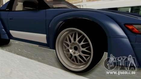 Nissan Silvia Sil80 pour GTA San Andreas vue arrière