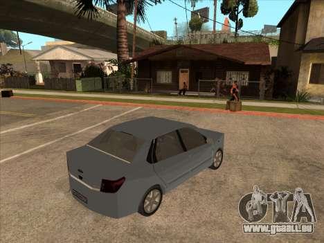 Datsun on-DO pour GTA San Andreas vue arrière