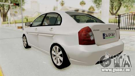 Hyundai Accent Era für GTA San Andreas zurück linke Ansicht