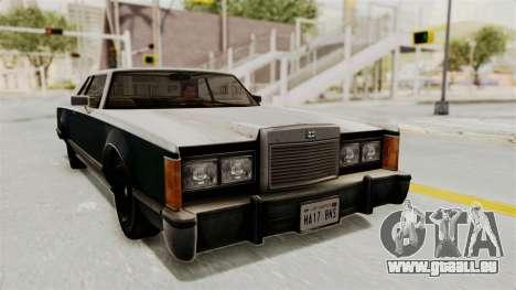 GTA 5 Dundreary Virgo IVF pour GTA San Andreas sur la vue arrière gauche