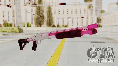 GTA 5 Pump Shotgun Pink pour GTA San Andreas