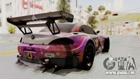 BMW Z4 GT3 Tobisawa Misaki pour GTA San Andreas laissé vue
