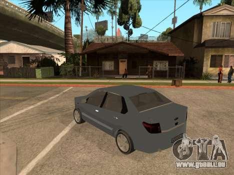 Datsun on-DO pour GTA San Andreas vue intérieure