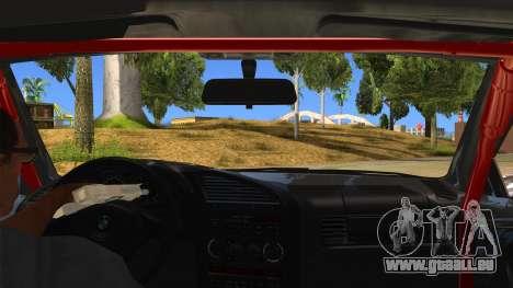 BMW M3 Drift Missile pour GTA San Andreas vue intérieure