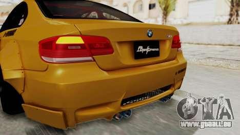 BMW M3 E92 Liberty Walk pour GTA San Andreas salon