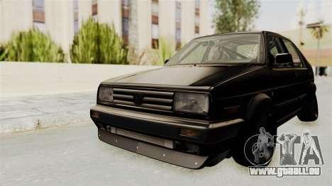 Volkswagen Jetta 2 pour GTA San Andreas sur la vue arrière gauche