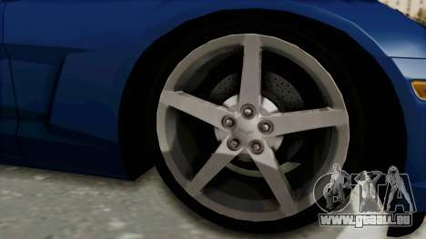 Chevrolet Corvette C6 für GTA San Andreas Rückansicht