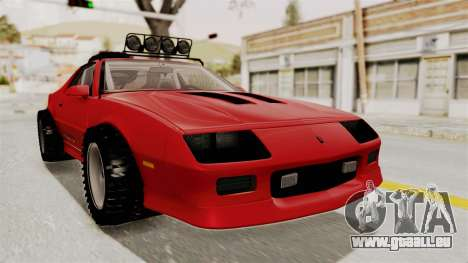 Chevrolet Camaro 1990 IROC-Z Rusty Rebel pour GTA San Andreas