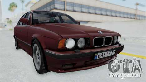 BMW 525i E34 1994 LT Plate für GTA San Andreas zurück linke Ansicht