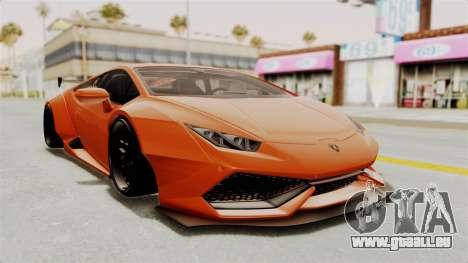 Lamborghini Huracan Libertywalk Kato Design pour GTA San Andreas sur la vue arrière gauche