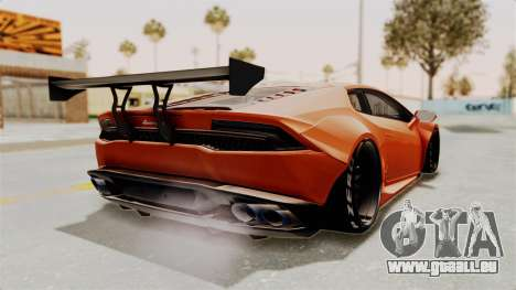 Lamborghini Huracan Libertywalk Kato Design pour GTA San Andreas laissé vue
