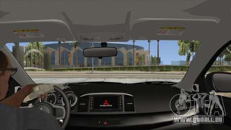 Mitsubishi Lancer Evolution X PDRM für GTA San Andreas Innenansicht