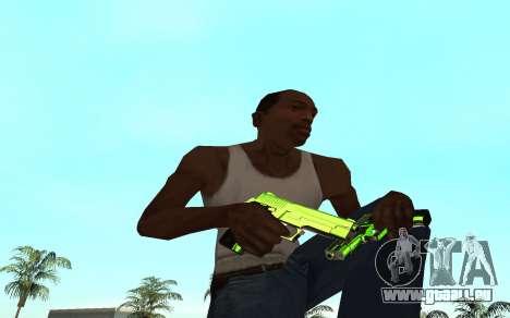 Green chrome weapon pack pour GTA San Andreas troisième écran