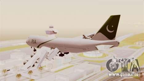 Boeing 747-200 Pakistan International pour GTA San Andreas vue de droite