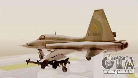 Northrop F-5E Tiger II JASDF für GTA San Andreas rechten Ansicht