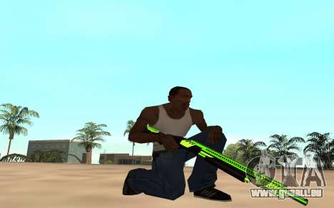 Green chrome weapon pack für GTA San Andreas her Screenshot