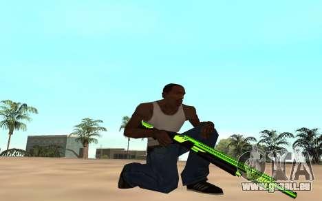 Green chrome weapon pack pour GTA San Andreas quatrième écran