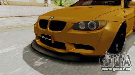 BMW M3 E92 Liberty Walk pour GTA San Andreas vue de côté
