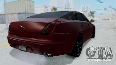Jaguar XJ 2010 pour GTA San Andreas sur la vue arrière gauche