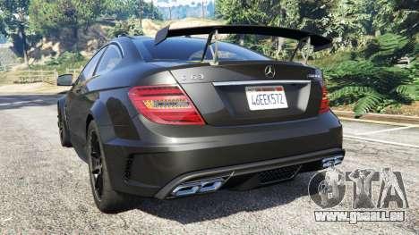 GTA 5 Mercedes-Benz C63 Coupe hinten links Seitenansicht