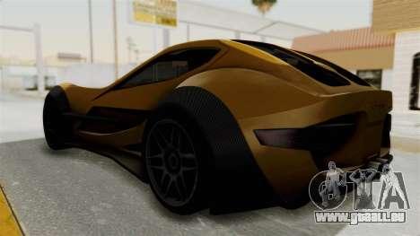 Felino CB7 pour GTA San Andreas sur la vue arrière gauche