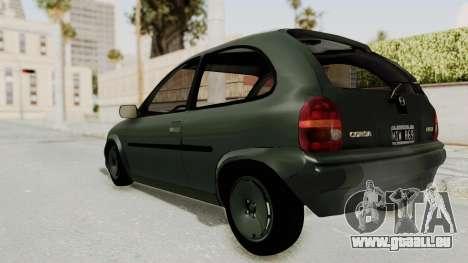 Chevrolet Corsa pour GTA San Andreas laissé vue