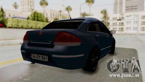 Fiat Linea 2011 pour GTA San Andreas laissé vue