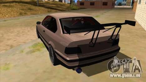 BMW M3 Drift Missile pour GTA San Andreas sur la vue arrière gauche