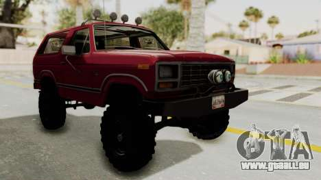 Ford Bronco 1985 Lifted pour GTA San Andreas