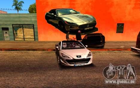 Maserati Wall Grafiti pour GTA San Andreas troisième écran