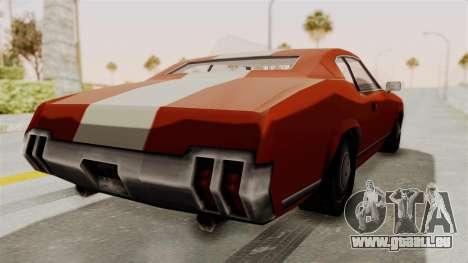 Beta VC Sabre Turbo für GTA San Andreas linke Ansicht