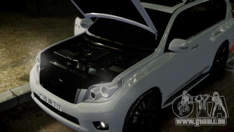 Toyota Land Crusier Prado 150 für GTA 4 Unteransicht