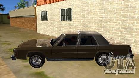Mercury Grand Marquis 1986 v1.0 pour GTA San Andreas laissé vue