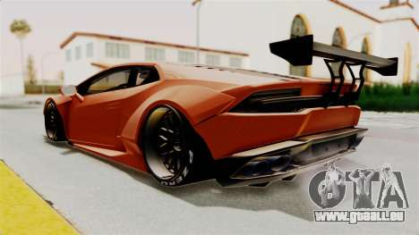 Lamborghini Huracan Libertywalk Kato Design für GTA San Andreas rechten Ansicht