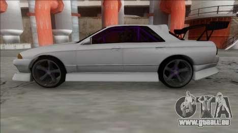 Nissan Skyline R32 4 Door Drift pour GTA San Andreas sur la vue arrière gauche