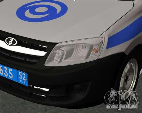 Lada Granta de la sécurité Privée pour GTA San Andreas vue arrière