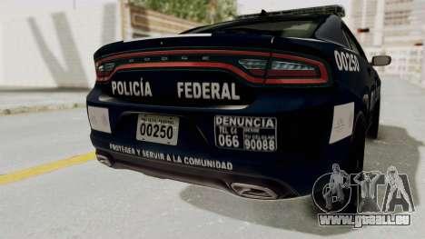Dodge Charger RT 2016 Federal Police pour GTA San Andreas vue de dessous