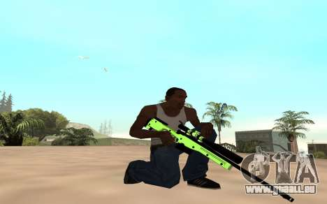 Green chrome weapon pack für GTA San Andreas zweiten Screenshot