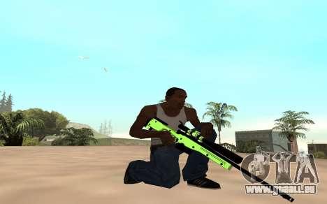 Green chrome weapon pack pour GTA San Andreas deuxième écran
